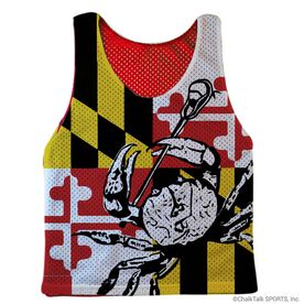 Guys Lacrosse Pinnie - Maryland (Red Interior)