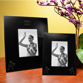 Volleyball Engraved Picture Frame - Two Girl Players