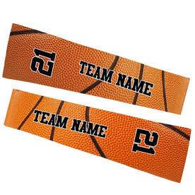 Basketball Printed Arm Sleeves - Basketball Texture