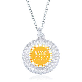 Personalized Braided Circle Necklace - That's My Girl