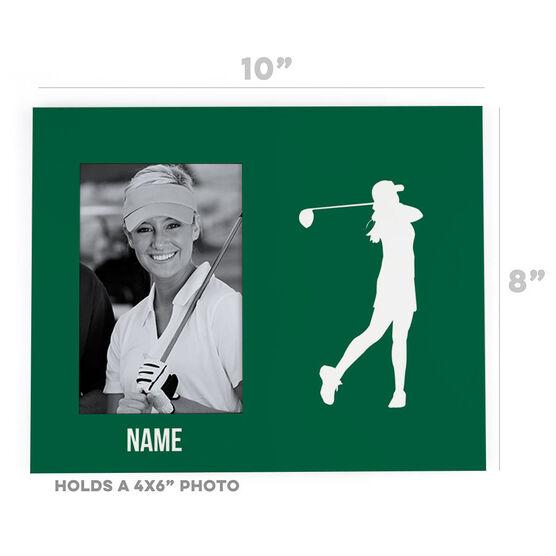 Golf Photo Frame - Female Silhouette