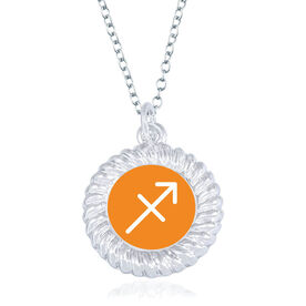Braided Circle Necklace - I'm A Sagittarius