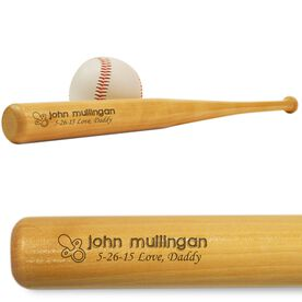 Baby Announcement Mini Engraved Baseball Bat