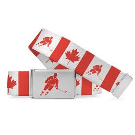 Hockey Lifestyle Belt Canadian Flag