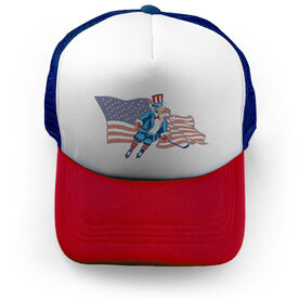 Hockey Trucker Hat Stars and Stripes