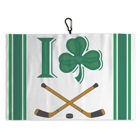 Hockey Skate Towel Shamrock I Heart Hockey