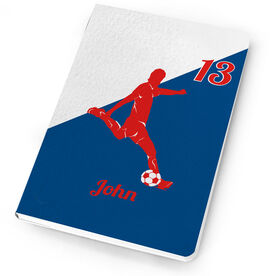 Soccer Notebook - Personalized Soccer Player Guy Silhouette