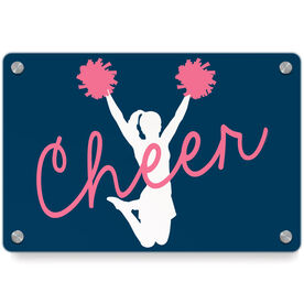 Cheerleading Metal Wall Art Panel - Cheer Girl