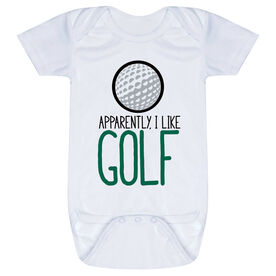 Golf Baby One-Piece - Apparently, I Like Golf