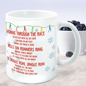 Running Coffee Mug - Jingle Run with Bells