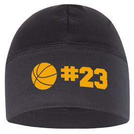 Beanie Performance Hat - Basketball with Number