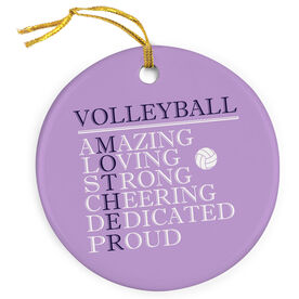 Volleyball Porcelain Ornament - Mother Words