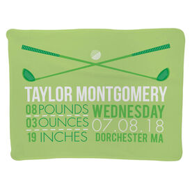 Golf Baby Blanket - Birth Announcement