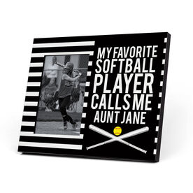 Softball Photo Frame - My Favorite Player Calls Me