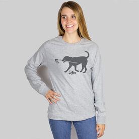 Skiing Long Sleeve T-Shirt - Sven The Ski Dog