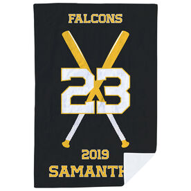 Softball Premium Blanket - Personalized Team with Crossed Bats
