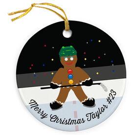 Hockey Porcelain Ornament Gingerbread Man