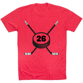 Hockey Tshirt Short Sleeve Personalized Hockey Number