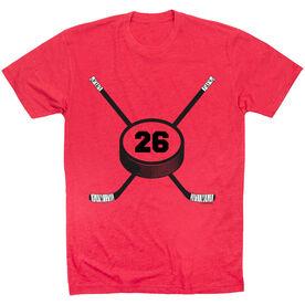 Hockey Tshirt Short Sleeve Personalized Hockey Number