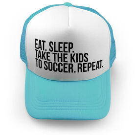 Soccer Trucker Hat - Eat Sleep Take The Kids to Soccer