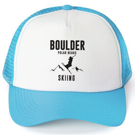 Skiing Trucker Hat - Team Name With Text