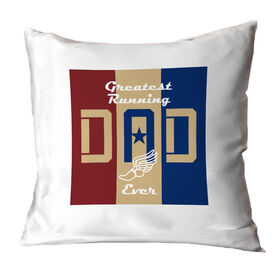 Running Throw Pillow - Greatest Dad Stripes