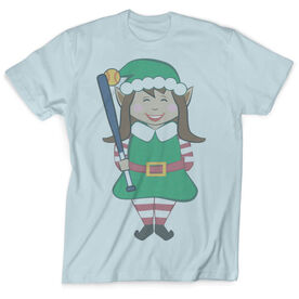 Vintage Softball T-Shirt - Christmas Elf