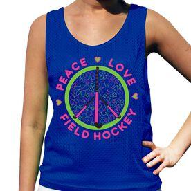 Peace Love Flowers Field Hockey Pinnie