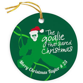 Hockey Porcelain Ornament Goalie That Saved Christmas
