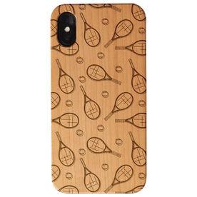 Tennis Engraved Wood IPhone® Case - Tennis Pattern