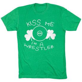 Wrestling Tshirt Short Sleeve Kiss Me I'm A Wrestler