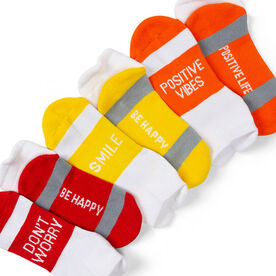 Socrates® Woven Performance Sock Set - Stay Smiling