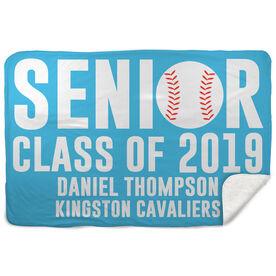 Baseball Sherpa Fleece Blanket - Personalized Senior Class Of