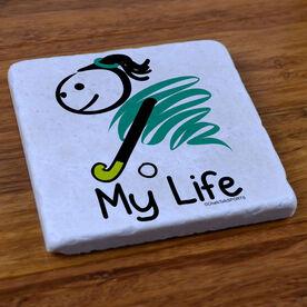 My Life Field Hockey - Stone Coaster