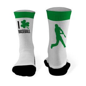 Baseball Printed Mid Calf Socks I Shamrock Baseball