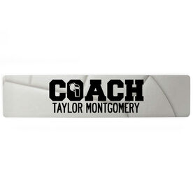 """Volleyball Aluminum Room Sign - Coach Volleyball (4""""x18"""")"""