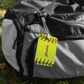 Softball Bag/Luggage Tag - Personalized Stitches