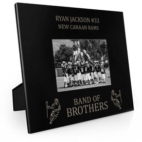 Guys Lacrosse Engraved Picture Frame - Band Of Brothers