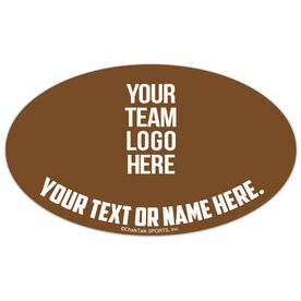 Football Oval Car Magnet Your Logo