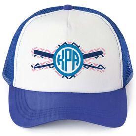 Softball Trucker Hat - Monogram Chevron
