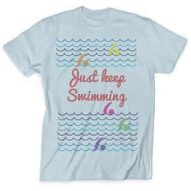 Vintage Swimming T-Shirt - Just Keep Swimming