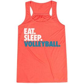 Volleyball Flowy Racerback Tank Top - Eat Sleep Volleyball (Bold)