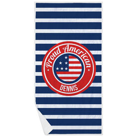 Personalized Premium Beach Towel - Proud American