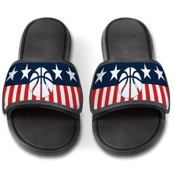 Basketball Repwell® Slide Sandals - Stars and Stripes