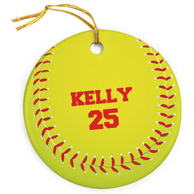 Softball Porcelain Ornament Graphic