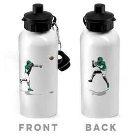 Football 20 oz. Stainless Steel Water Bottle - Go For The Pass