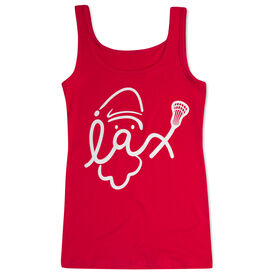 Lacrosse Women's Athletic Tank Top - Santa Lax Face