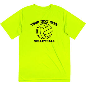 Volleyball Short Sleeve Performance Tee - Custom Volleyball