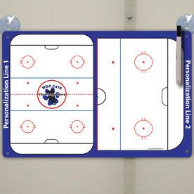 """Hockey Custom Dry Erase Coach Board Full And Half Rink - 18"""" X 12"""""""