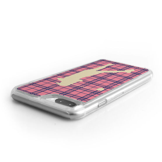 Golf iPhone® Case - Plaid Female Golfer